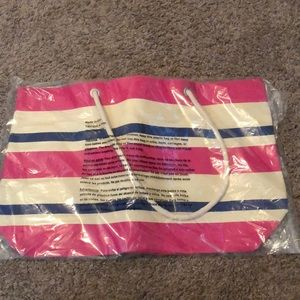Pink, Cream, and Blue DSW Tote Bag
